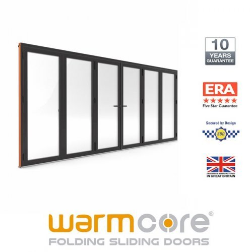 Bi-Fold Door Aluminium Anthracite WarmCore 6 Pane Bi-Fold Door