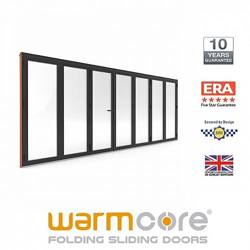 Aluminium WarmCore 7 Pane Bi-Fold Door