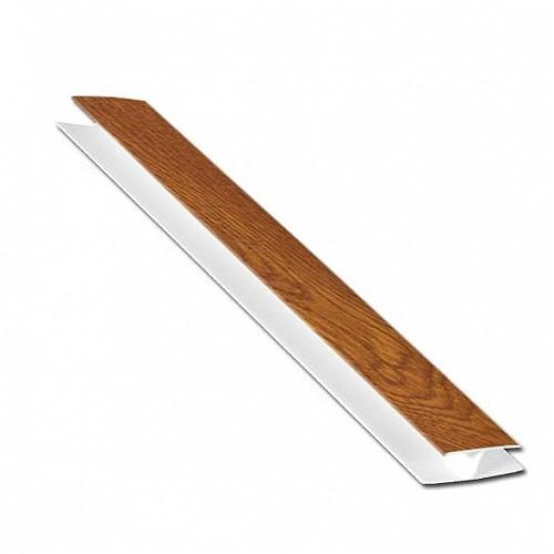 Light Oak Woodgrain 5m H-Section