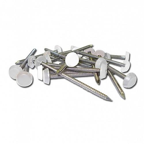 White 30mm Polytop Pins