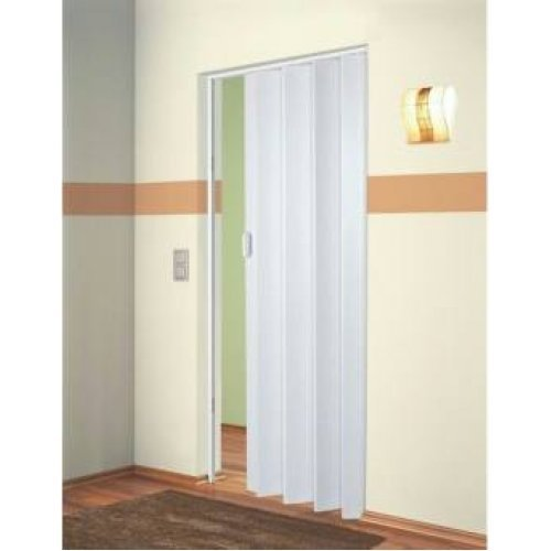 The Plaza - Up To 88cm Single Concertina Folding Door White Ash