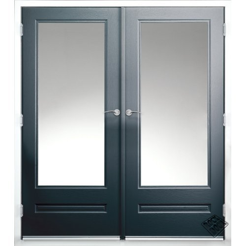 Rock door composite french doors external anthracite grey for Upvc french doors grey