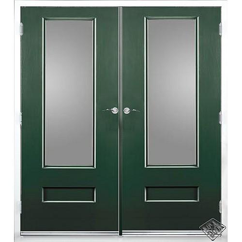 Rock Door Composite French Doors External Emerald Green