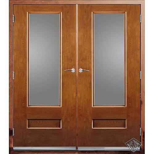 Rock Door Composite French Doors - (External) Light Oak