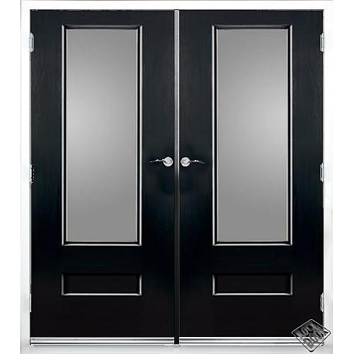 Rock Door Composite French Doors - (External) Onyx Black