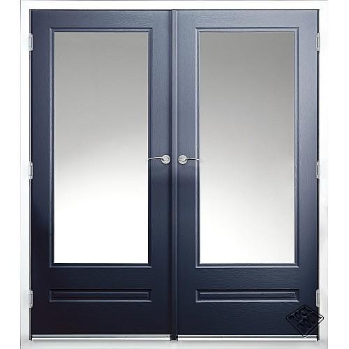 Rock Door Composite French Doors - (External) Sapphire Blue