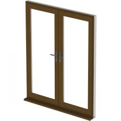 Upvc golden oak french doors 39 a 39 rated made to measure bristol for French doors exterior upvc made to measure