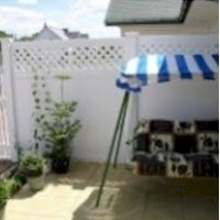 Garden White Fence Panels