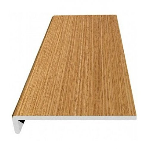 3mm x 2.5m Light Oak Thin UPVC Internal Window Cill Cover Board