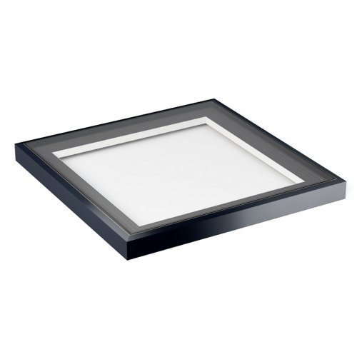 1000x1000 Flat Roof Light in Grey on White