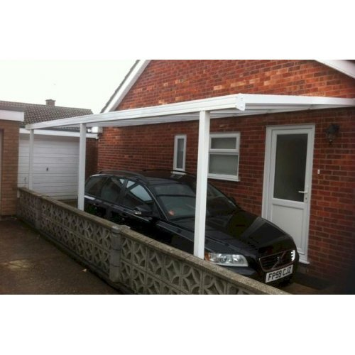 Evolution Car Port Aluminium Carport Canopy 2100mm Projection