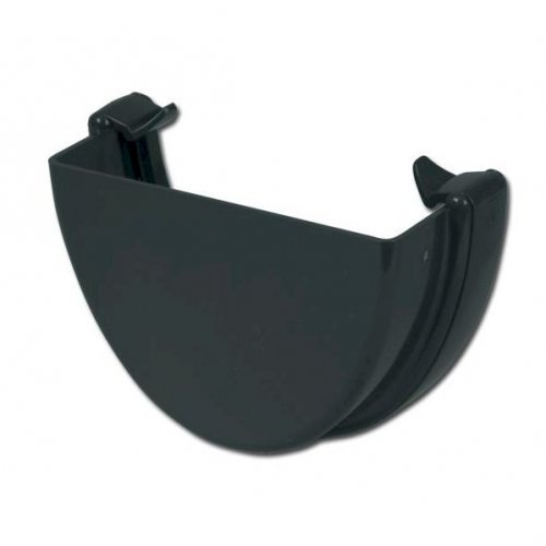 FloPlast Anthracite Grey High Capacity Gutter External Stop End