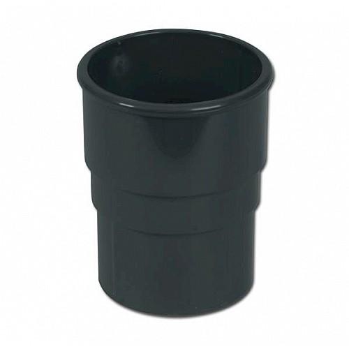 FloPlast Anthracite Grey Round Downpipe Socket