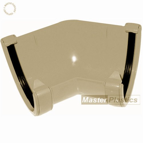 Floplast Cream (Sand) 115mm Deep Flow 135° Gutter Angle