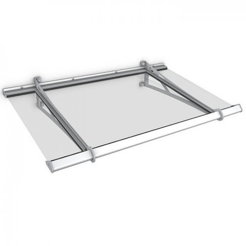 Stainless Steel 1460 x 880mm Real Glass Safety Canopy