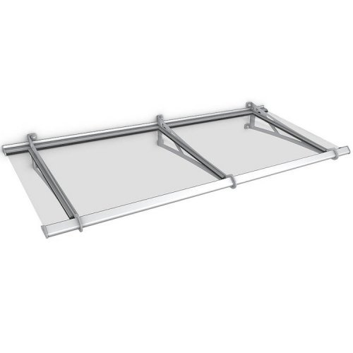 Steel Extendable Real Glass Safety Canopy (Base Unit)