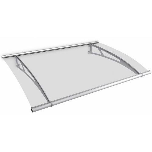 2050 x 1500mm Commercial Door Canopy - Steel Frame - Clear Acrylic