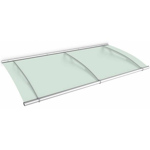 1.9m Lightline Stainless Steel Frosted Green Over Door Canopy