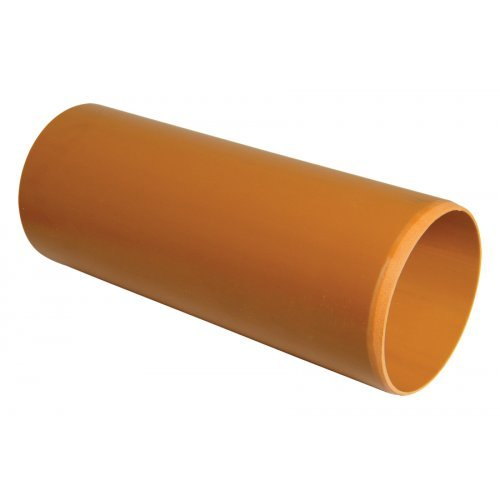 110mm Under Ground Drain 3m Plain Pipe - Floplast D043