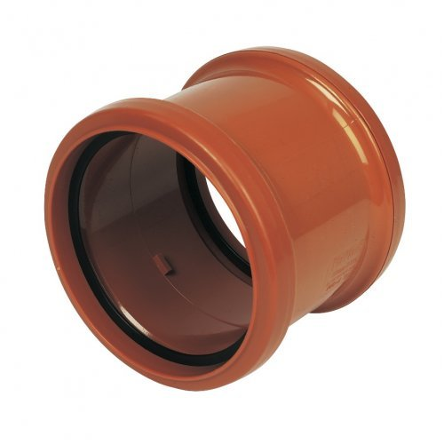 110mm Under Ground Pipe Coupling Double Socket - Floplast D105