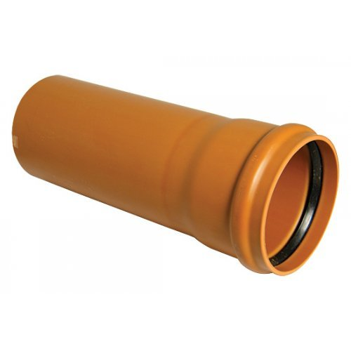 110mm under Ground drain pipe 3m socketed - Floplast D143