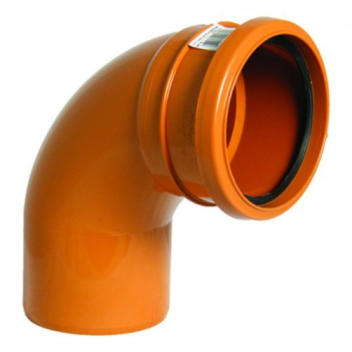 110mm Under Ground Pipe Single Socket Bend 87.5° - Floplast D161