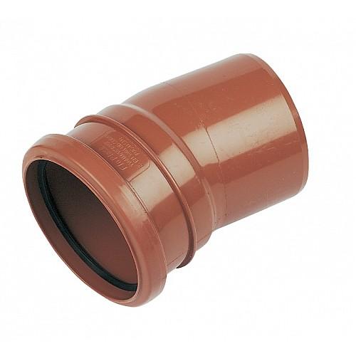 110mm Under Ground Pipe Single Socket Bend 15° - Floplast D167