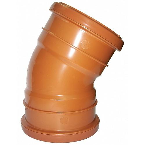 110mm Under Ground Double Socket Bend 30° - Floplast D564