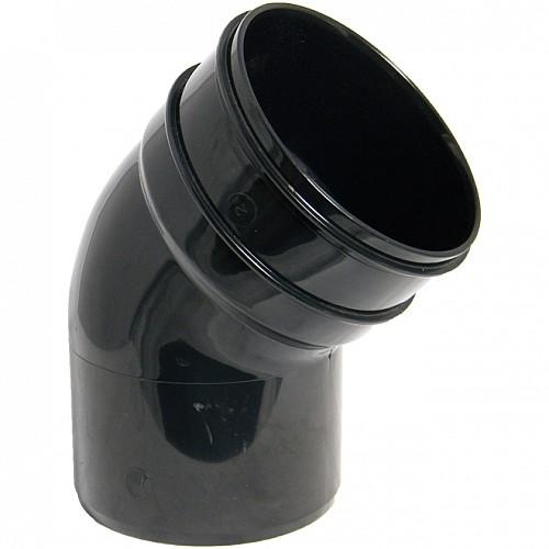 Floplast (SP435B) Black Soil Pipe 135º Offset Bend - Bottom