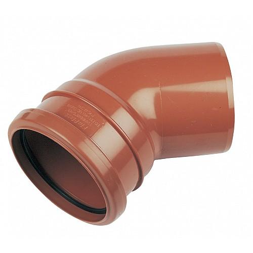 FloPlast 160mm Under Ground Pipe 45° Bend Skt/Spig - 6D163