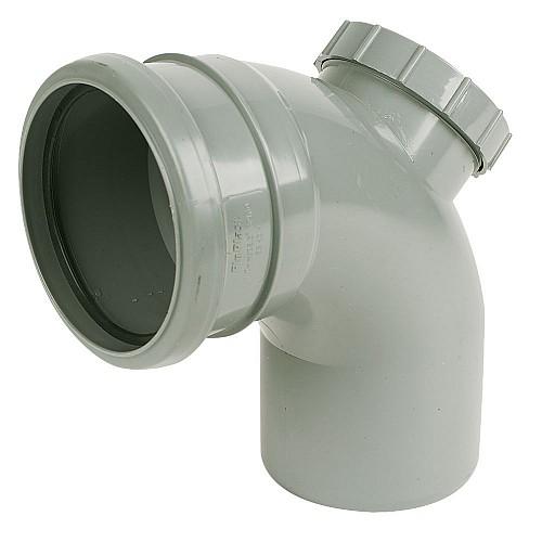 Floplast (SP169G) 92.5º Access Bend Grey