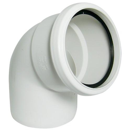Floplast (SP162W) White Soil Pipe 112º Bend