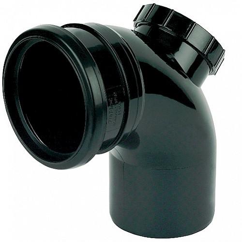 Floplast (SP169B) Black Soil Pipe 92.5º Access Bend