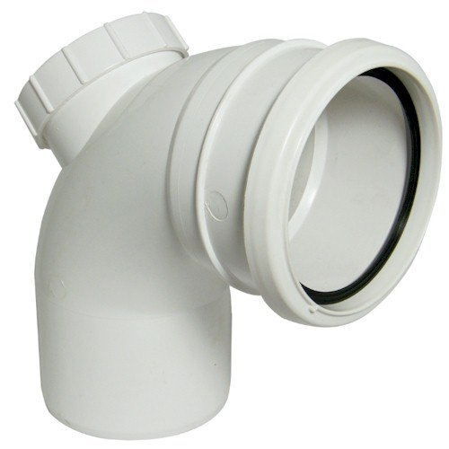 Floplast (SP169W) 92.5º White Soil Pipe Access Bend