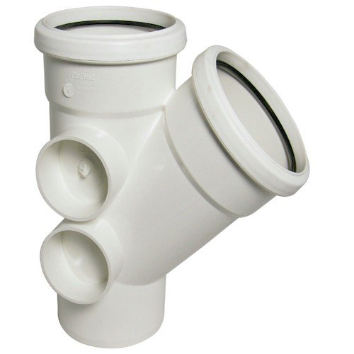 Floplast (SP210W) 135º White Soil Pipe Branch