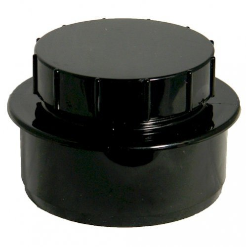 Floplast (SP292B) Black Soil Pipe Screwed Access Cap