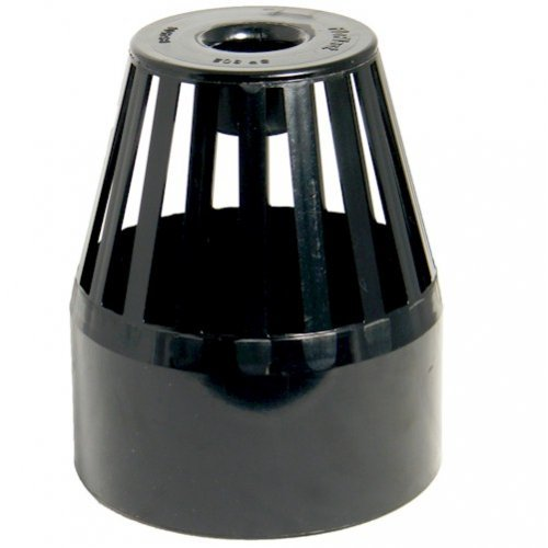 Floplast (SP302B) Black Soil Pipe Roof Cowl - Vent Terminal