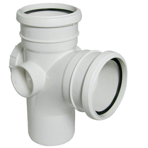 Floplast (SP502W) 92.5º White Soil Pipe Access Branch