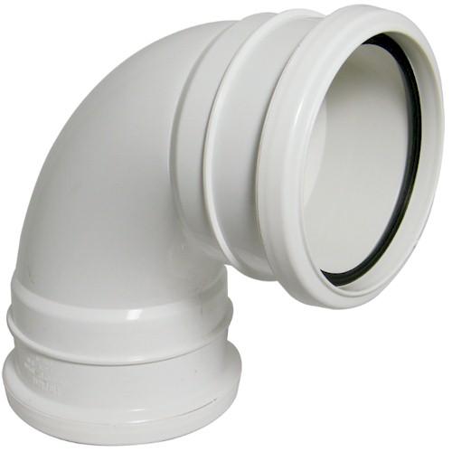 Floplast (SP561W) White Soil Pipe  90º Bend Double Socket