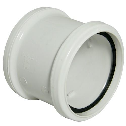 Floplast (SP105W) Double Socket White Soil Pipe Coupling