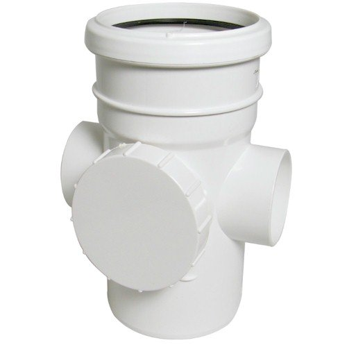 Floplast (SP274W) 110mm White Access Pipe