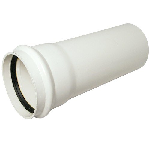 Floplast (SP4W) White 110mm Soil Pipe - 4m