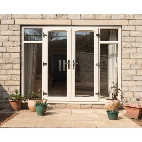 Upvc 7016 grey french doors 39 a 39 rated made to measure for Upvc french doors bristol