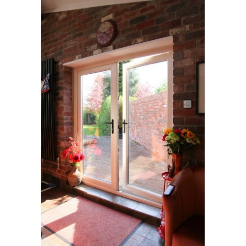 Upvc 7016 Grey French Doors 39 A 39 Rated Made To Measure Bristol