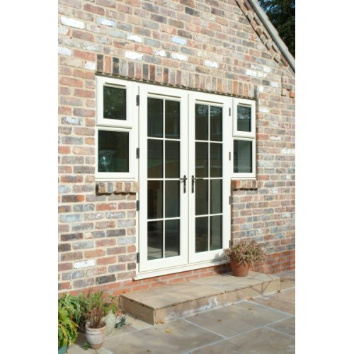 Upvc chartwell green french doors 39 a 39 rated made to for Upvc french doors bristol