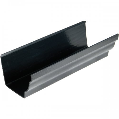 Floplast Cast Iron Effect 110mm Niagara Ogee Gutter - 3m length