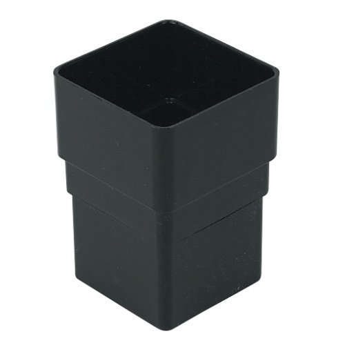 Floplast 65mm Black Square Downpipe Joint (RSS1B)