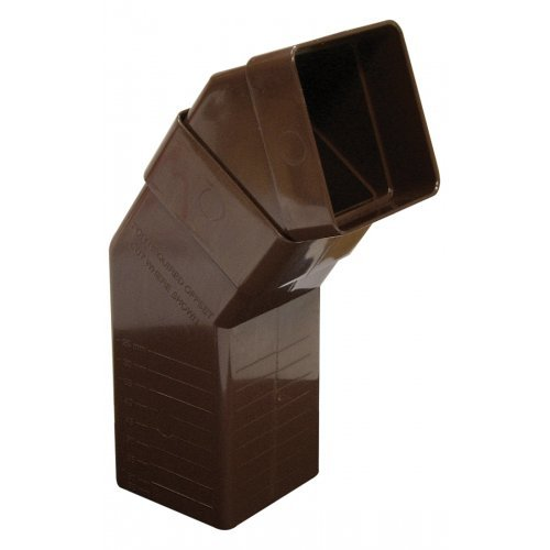 Floplast 65mm Brown Square Downpipe Adjustable Offset Bend (RBS5V)
