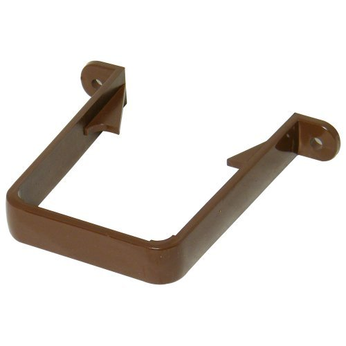 Floplast 65mm Brown Square Downpipe Bracket  (RCS1V)