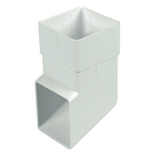 Floplast 65mm White Square Downpipe Shoe (RBS3W)